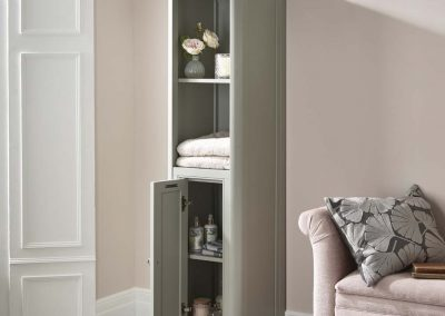 Langham Tallboy Unit steel grey open door lifestyle v01